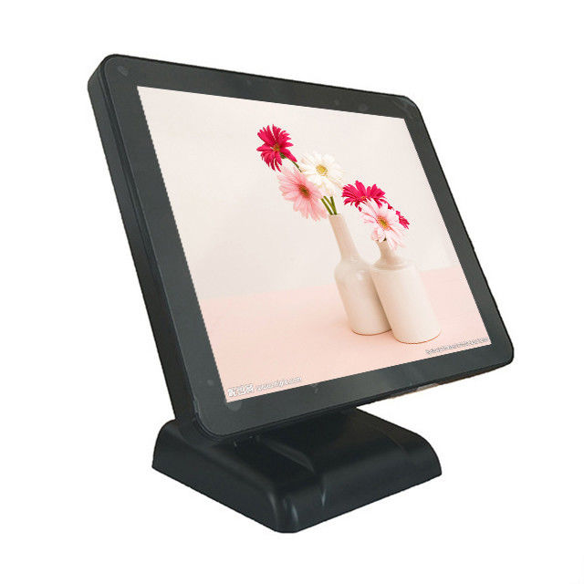 17 Inch Black Color Point Of Sale Systems , 32GB Small Windows Based Pos